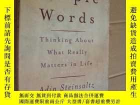 二手書博民逛書店Simple罕見words:thinking about wha