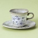 日本陶瓷【美濃燒】紫櫻和風 咖啡杯組