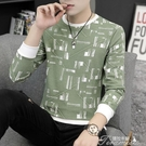 長袖T恤-秋季新款男士長袖t恤韓版修身青年個性打底衫潮流體恤男裝衛衣 提拉米蘇
