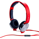 【i2艾思奎】VIBRATE 線控耳罩式耳機(搖滾紅)