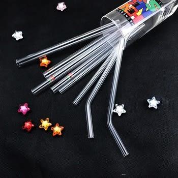 Lohogo 強化玻璃直桿粉圓吸管/環保玻璃吸管/透明玻璃吸管/攪拌棒/無彩印(內徑9mm) Lohogo樂馨生活館