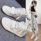 高筒鞋 高幫鞋女2021年新款夏季百搭休閒板鞋春秋透氣鞋子爆款女鞋小白鞋 韓國時尚 618