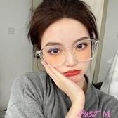 眼鏡網紅透明眼鏡框女韓版潮可配有大臉顯瘦顯臉小素顏大框架 JUST M