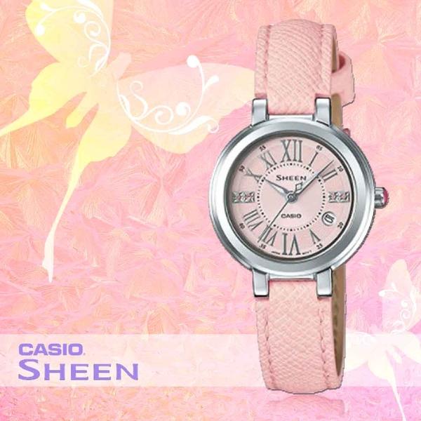 CASIO 手錶專賣店 CASIO SHEEN_ SHE-4029L-4A_施華洛 世奇_玫瑰金_女錶
