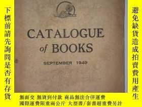 二手書博民逛書店CATALOGUE罕見OF BOOKS 圖書目錄【全英文 194