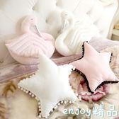 新年鉅惠 水洗棉五角星皇冠天鵝家居沙發臥室飄窗裝飾抱枕靠墊