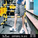 短褲 【X55572】簡約有型雪花休閒短褲 青山AOYAMA