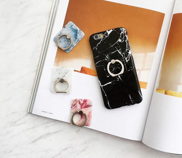 指環造型支架 大理石紋Ring 石頭紋 手機金屬支架戒指扣 黏貼式環扣 懶人支架  單手操作 通用款