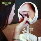 化妝鏡 化妝鏡小鏡子台式梳妝隨身公主鏡桌面迷你宿舍書桌便攜學生雙面鏡 歐歐