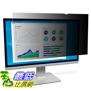 [106美國直購] 3M PF216W1B 螢幕防窺片 3M Privacy Filter for 21.6吋 Widescreen Monitor (16:10)