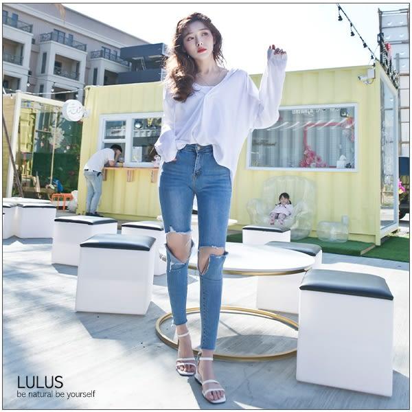 LULUS-DV領抽繩連帽上衣-2色  現+預【01130403】