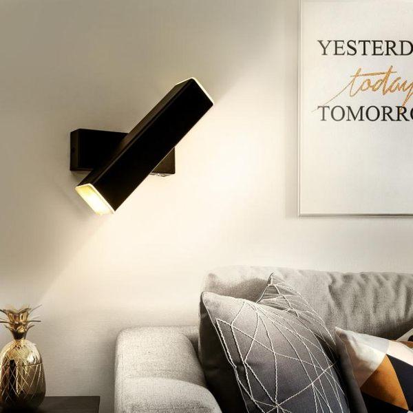 led壁燈臥室床頭簡約現代創意過道客廳燈具北歐調光閱讀壁燈投光燈 熊熊物語