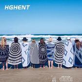 歐洲大牌大甜甜圈沙灘墊巾旅行浴巾沙灘披巾披肩創意圍巾野餐墊 韓流時裳