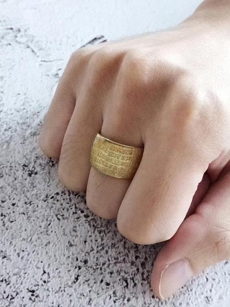 心經戒指 泰愛你佛家波羅蜜心經戒指潮男12mm寬鈦鋼指環轉運護身扳指 曼慕