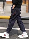 男童加絨牛仔褲冬季2019新款中大童兒童加厚一體絨棉褲秋冬天潮款