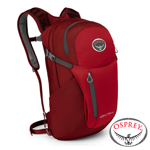 【美國 OSPREY】Daylite Plus 20休閒背包20L 真誠紅 100004 登山 露營 休閒 旅遊 戶外