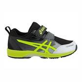Asics Top Speed [1144A020-002] 中童鞋 運動 休閒 保護 魔鬼氈 輕量 透氣 黑 螢黃