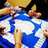 紙牌麻將撲克牌 防水加厚塑料迷你旅行便攜小紙麻將牌紙牌送色子    蜜拉貝爾