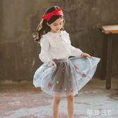 中大尺碼女童半身裙新款兒童洋氣百褶公主網紗裙蓬蓬短裙 zm5553【每日三C】