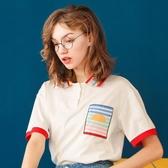泫雅風彩虹POLO衫女2020年夏季新款日系學生半袖上衣短袖T恤ins潮