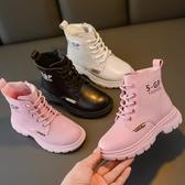 女童馬丁靴2019年新款冬季真皮短靴加絨兒童鞋靴子女秋冬款女童鞋  MKS免運