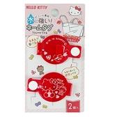 小禮堂 Hello Kitty 圓形透明姓名標籤扣組 姓名扣帶 姓名吊牌 銅板小物 (2入 紅) 4573135-58724