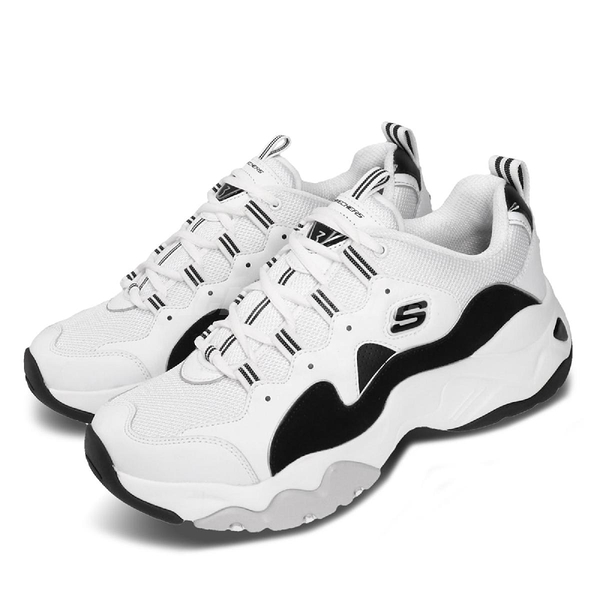 Skechers 休閒鞋 D Lites 3.0-Zenway 白 黑 男鞋 運動鞋 【ACS】 52683WBK