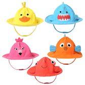 卡通兒童帽子春夏男童女童遮陽帽可愛太陽帽0-6歲寶寶帽子漁夫帽  無糖工作室