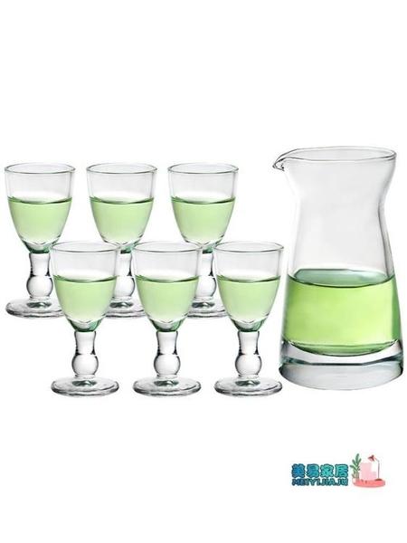 玻璃酒杯套裝 12只  家用玻璃白酒杯套裝 一口杯小號酒杯子彈杯分酒器酒壺酒盅