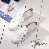 懶人鞋 白平衡超軟皮小白鞋。Bubble Nara波波娜拉。踩腳跟可兩穿,內外裡全真皮氣墊鞋。YA17206