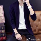 秋裝韓版毛線衣男士薄款長袖針織衫開衫毛衣男青年外套潮流 辛瑞拉