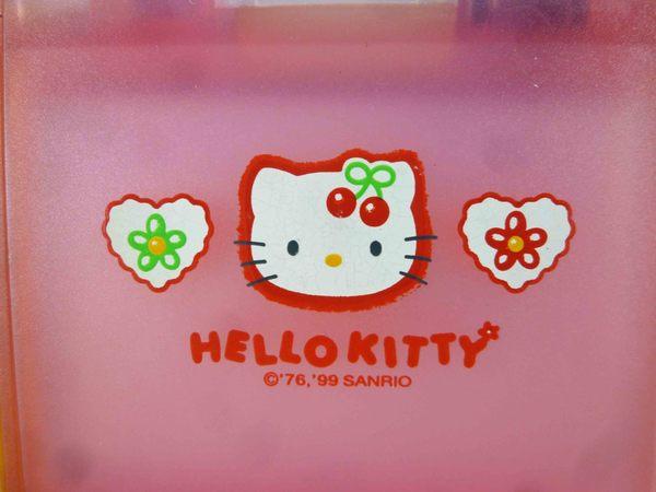 【震撼精品百貨】Hello Kitty 凱蒂貓-摺疊鏡-粉櫻桃