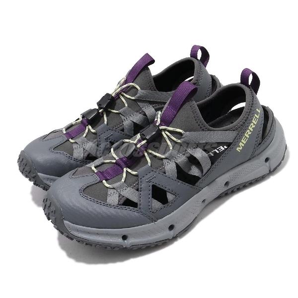 Merrell 戶外鞋 Hydrotrekker Synthetic Shandal 灰 紫 護趾涼鞋 女鞋 【ACS】 ML033534