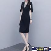 大碼洋裝 女裝胖mm裙子2020夏季新款洋氣顯瘦中長款V領雪紡連身裙 8號店