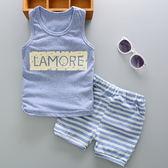 套裝 韓版 透氣 舒適 棉質 棉T 類涼感衣 暑假 童玩 無袖上衣+短褲 單款 寶貝童衣