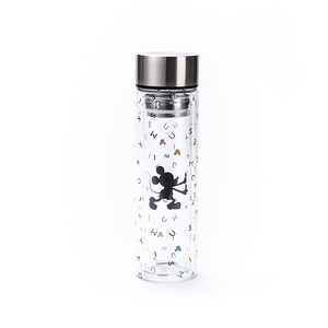 HOLA 米奇系列 雙層玻璃隨手瓶 360ml MICKEY