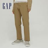 Gap男裝 商務風中腰直筒型休閒褲 810720-淺棕色