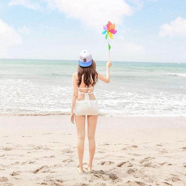 現貨★梨卡 - 二件式泳衣比基尼[有鋼圈+顯瘦+綁脖]香頌美人性感百變多Way集中爆乳C536