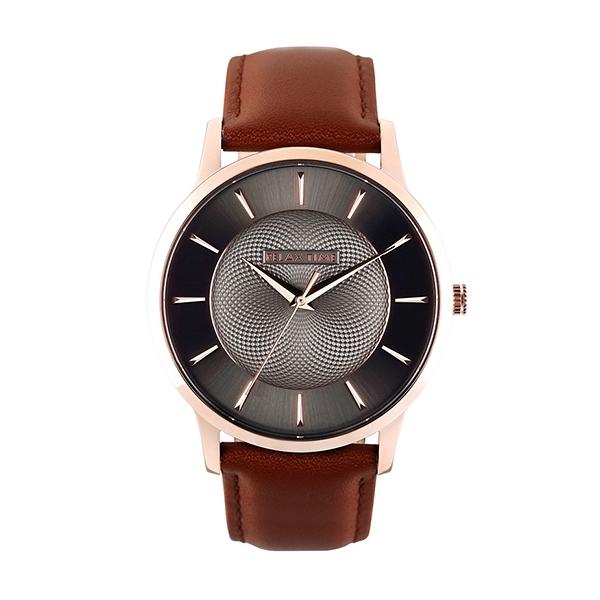 【Relax Time】Classic經典系列立體波紋時尚腕錶-咖啡棕(大)/RT-88-2M/台灣總代理公司貨享一年保固