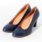 ★新品上市★GREEN PINE 簡約舒適柔軟 經典素面高跟鞋  -藍色