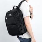 後背包 多功能夾層黑色後背包 可裝12吋筆電 簡約基本款 柒彩年代【NZB3】實用機能包款