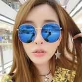 墨鏡女潮個性眼鏡新款優雅太陽鏡女士圓臉韓國司機  初語生活