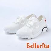 bellarita.舒適柔軟 造型編織休閒鞋(8954-15白色)