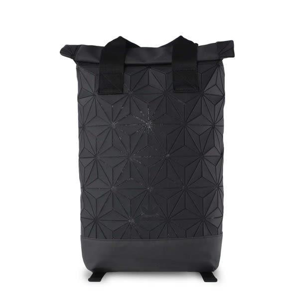 ISNEAKERS ADIDAS ORIGINALS 三宅一生 黑色 格紋 後背包 新款 DH0100 配件