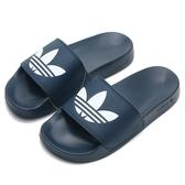 ADIDAS 拖鞋 ADILETTE LITE 深藍 大LOGO 運動拖 男女 (布魯克林) FU8299
