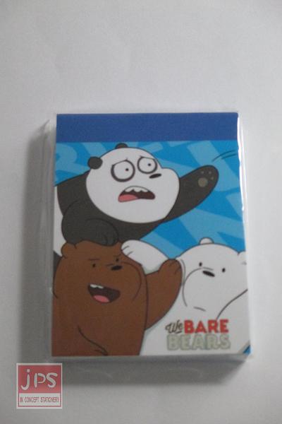 熊熊遇見你 小便條紙 藍色 KRT-667169A