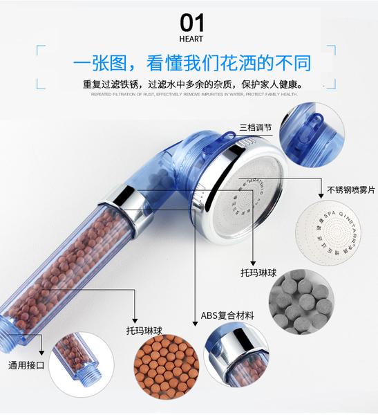 現貨可自取 三段式出水 過濾淨水蓮蓬頭 水龍頭增壓節水器 節水增壓蓮蓬頭 花灑