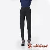 【wildland 荒野】女 彈性防風防潑合身保暖褲『黑色』0A82301 戶外 休閒 運動 露營 登山 騎車