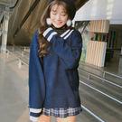 ZUCAS~學院風拼色韓國針織衫 - TD9523