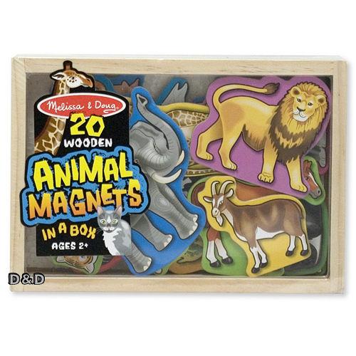 《 美國 Melissa & Doug 》木製磁鐵系列 - 動物磁鐵盒 ╭★ JOYBUS歡樂寶貝